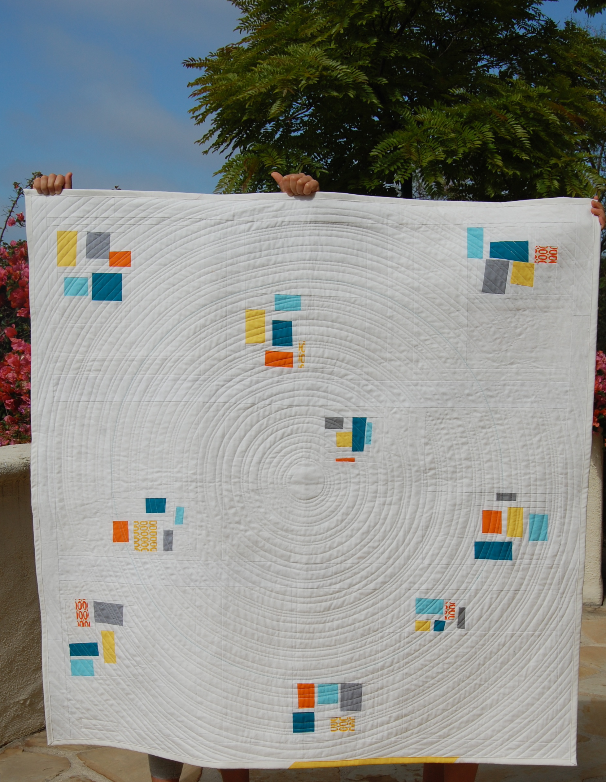 circle quilting lines | blooming poppies : quilting lines - Adamdwight.com