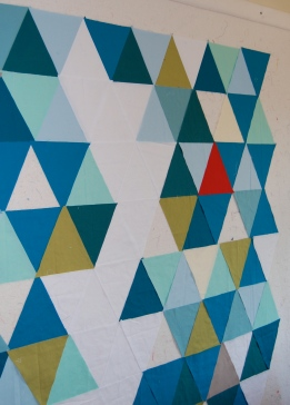 triangle solids on the design wall