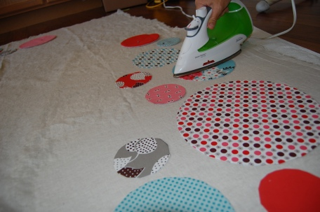 ironing circles in place