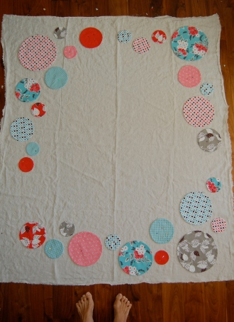 circle quilt layout
