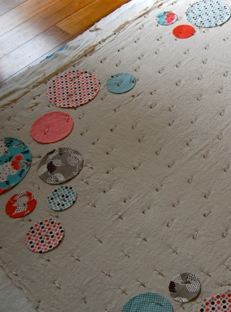 basting your circle quilt