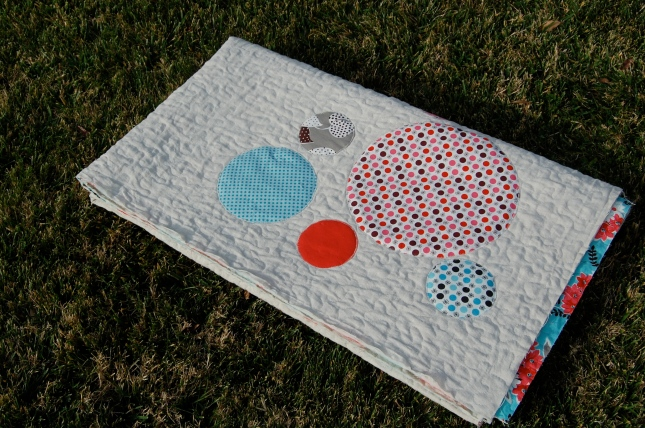 Comfort and Joy Quilt folded