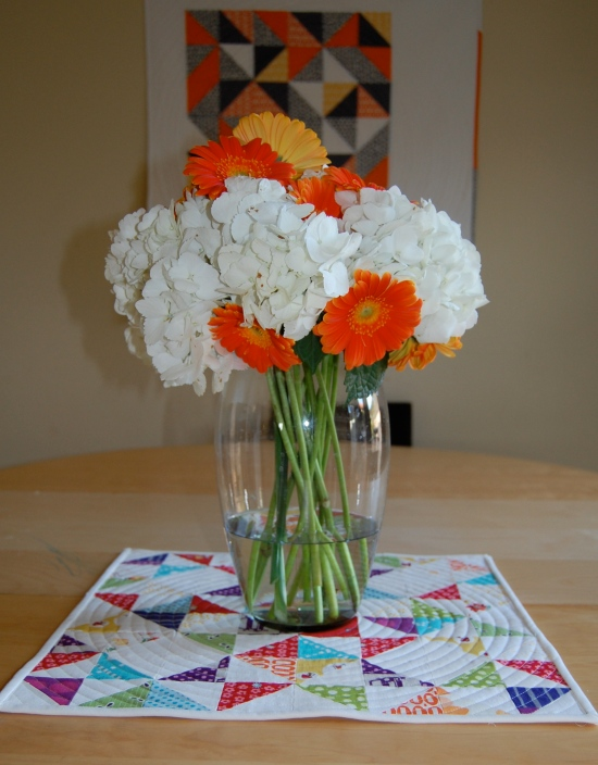 HST patchwork sampler with flowers