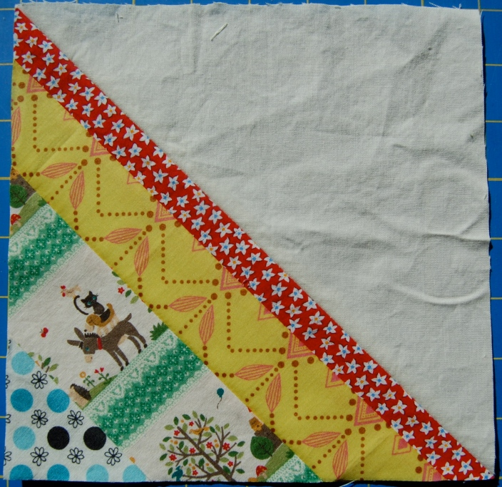 Sample Scrappy String HST block #2