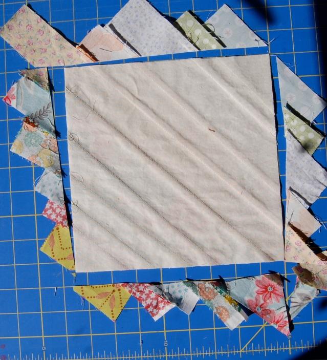 Step 5 Scrappy Strings HST block
