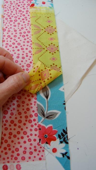 Step 4 Scrappy Strings HST block