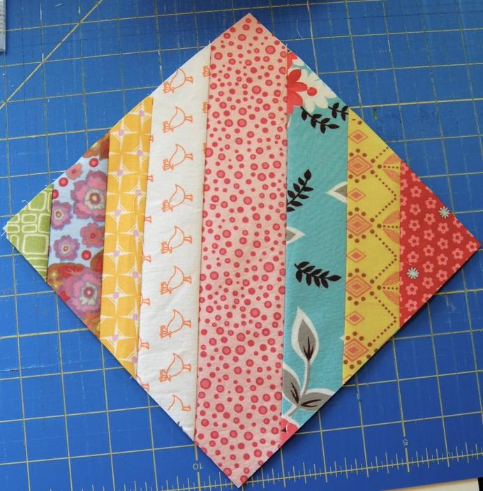 Step 5b Scrappy Strings HST block