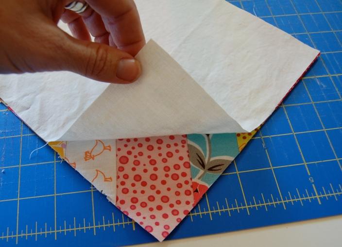 Step 6 Scrappy Strings HST block