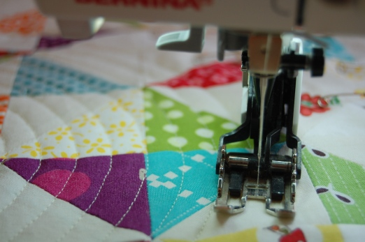 circle quilting some patchwork