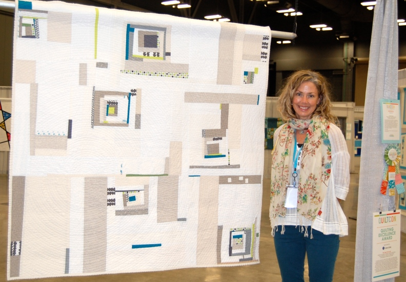 Me and my Sing It Out Loud Quilt at Quilt Con