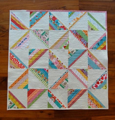 scrappy square quilt