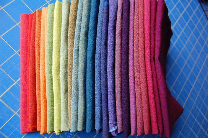 array of Oakshott Cottons post washing