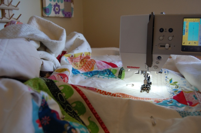 A's Bed Quilt underway....