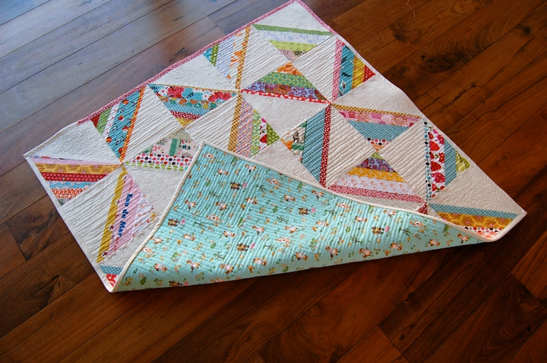 Scrappy Squares Quilt with back