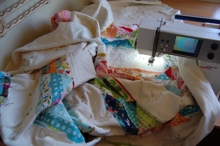 A's Bed Quilt underway #2