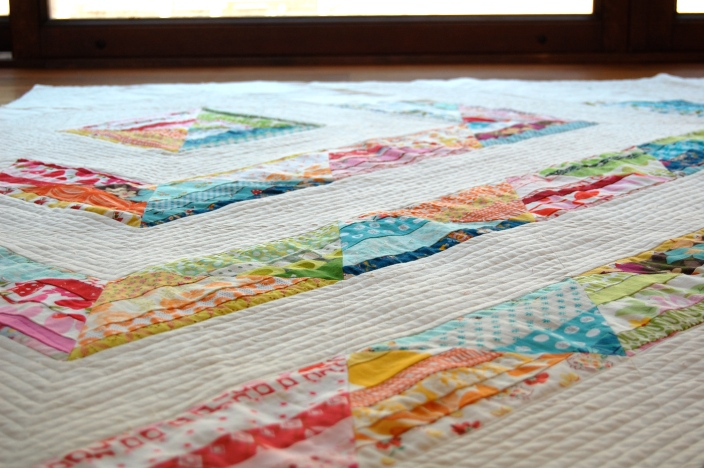 Scrappy Strings quilts almost finised