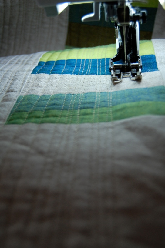 quilting lines in progress 2