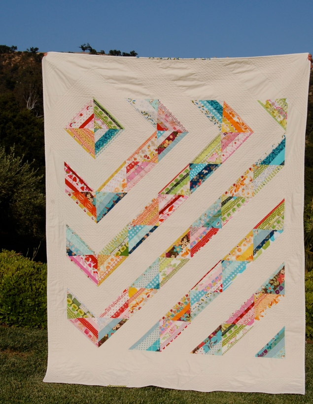 Happy Scrappy Quilt- finished #1