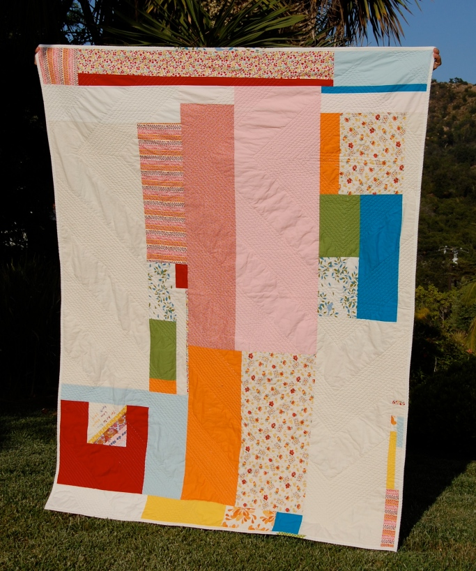 Happy Scrappy Quilt back