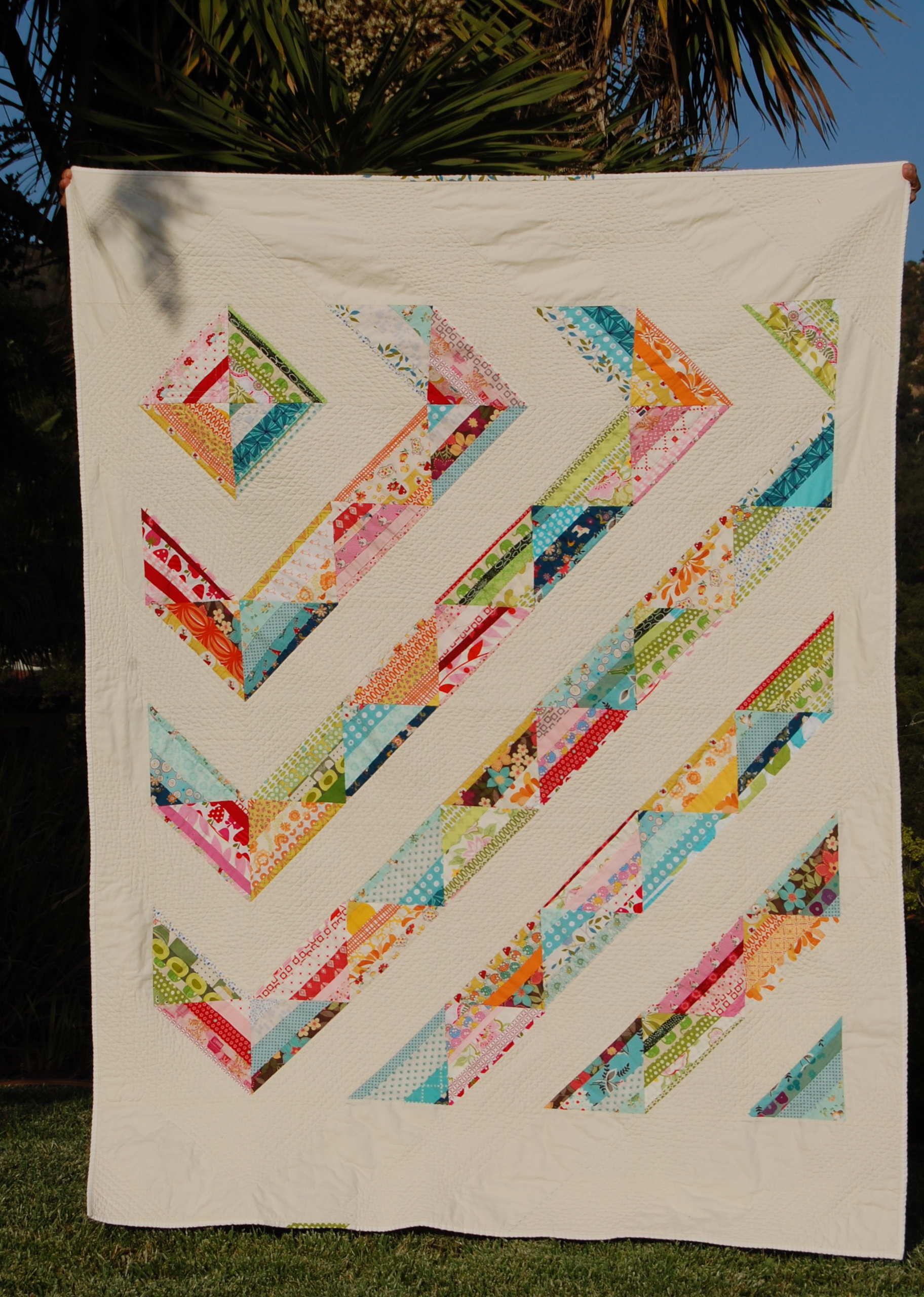 The happy scrappy birthday quilt finished blooming for Scrap quilt
