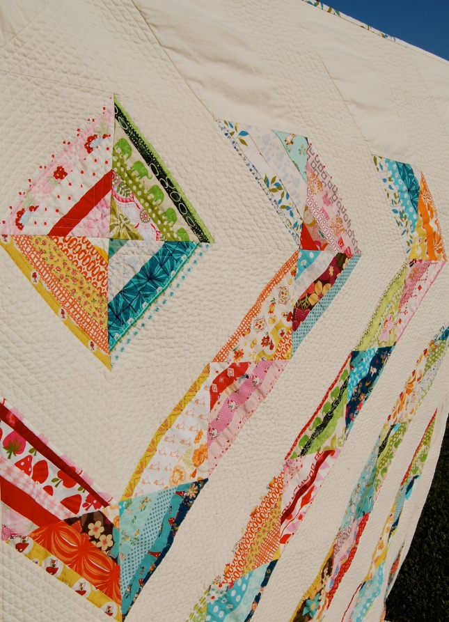 Happy Scrappy Quilt close-up