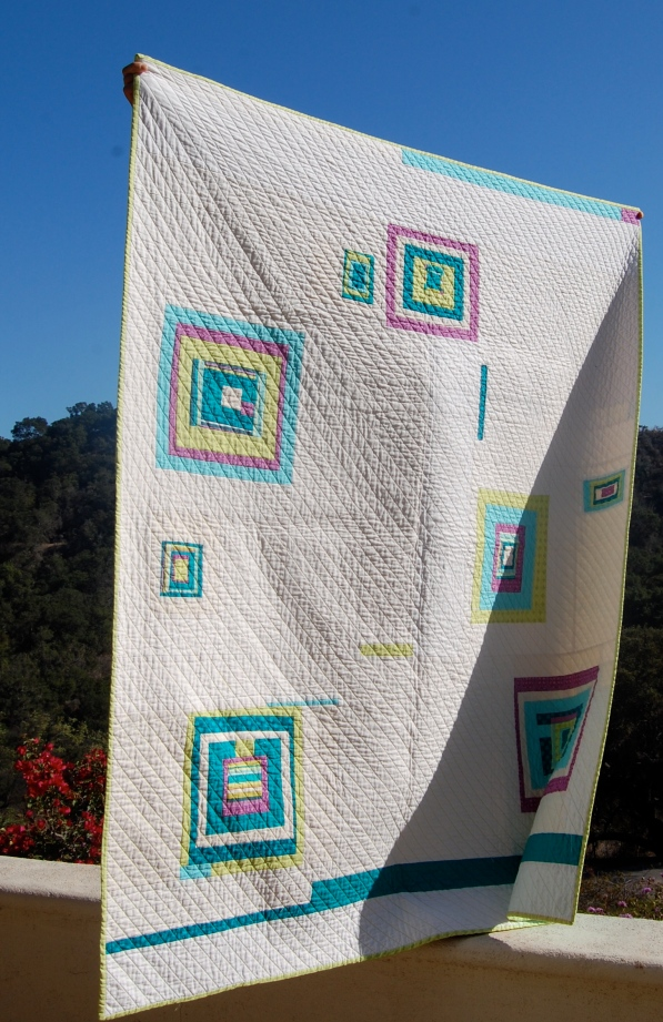 Time Traveler Quilt side view