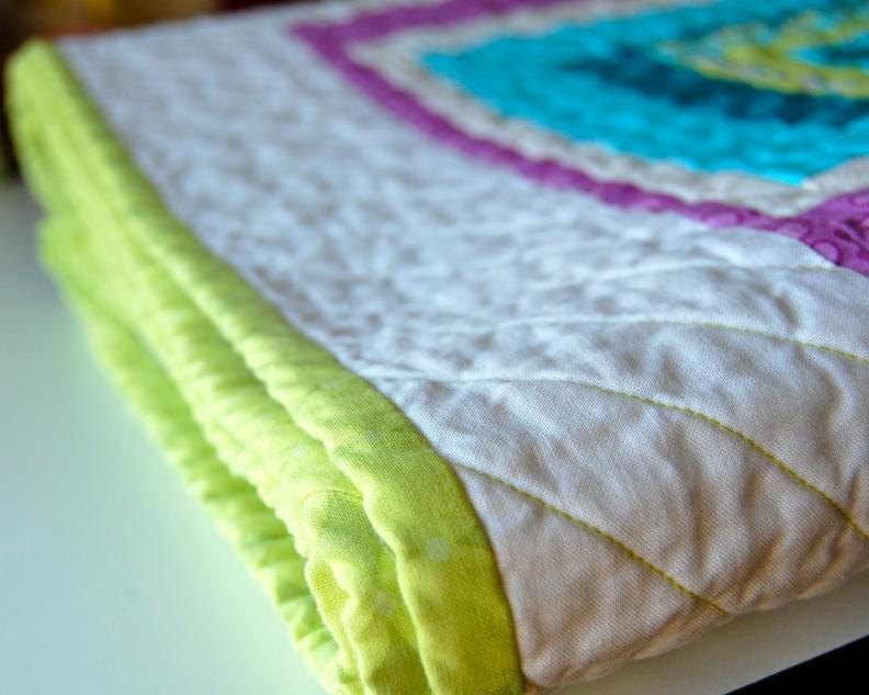 Time Traveler Quilt folded