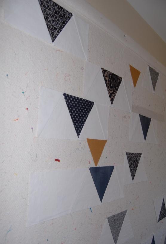 Linen and Indigo on the design wall