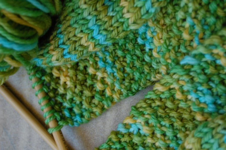 Irish Moss Stitch- close up