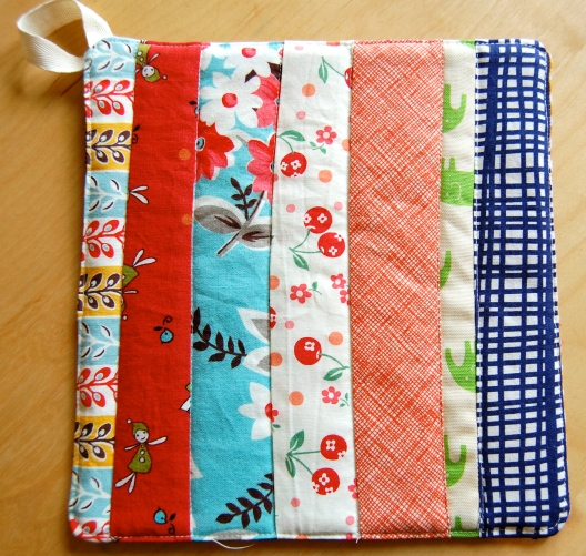 scrappy pot holder #1