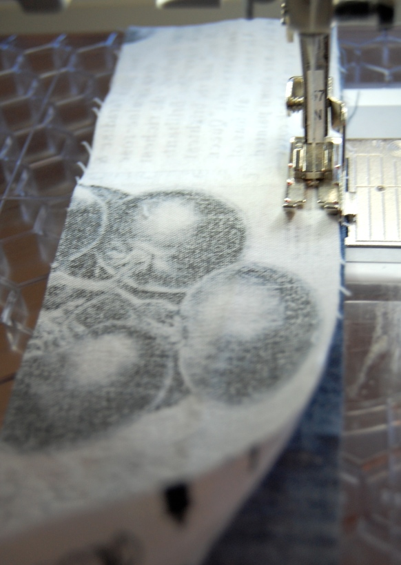 sew strips together 1/4 inch seam