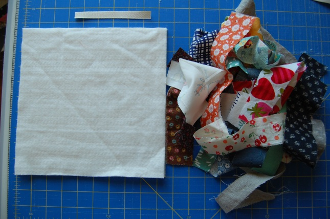 main materials needed for scrappy hot pads