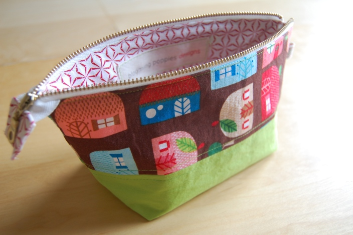 Appleville Zipper Pouch- open