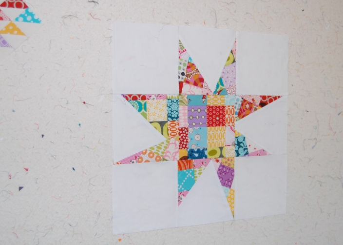 scrappy patchwork star