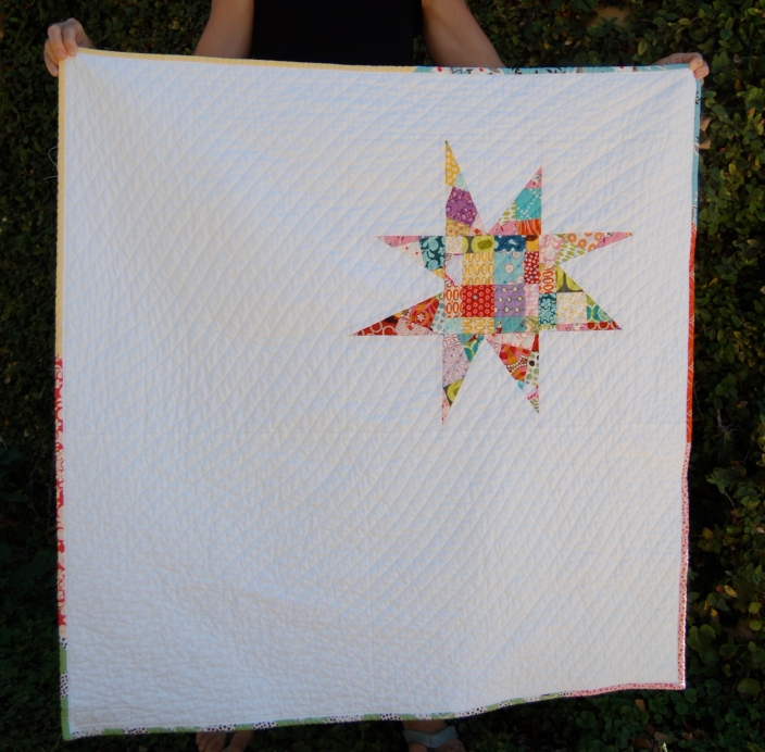 Scrappy Star Quilt Finished