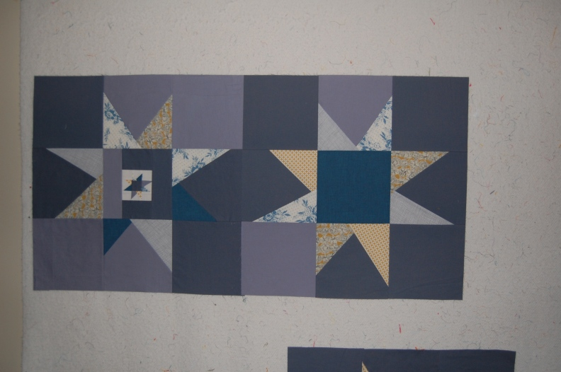 modern, wonky star blocks