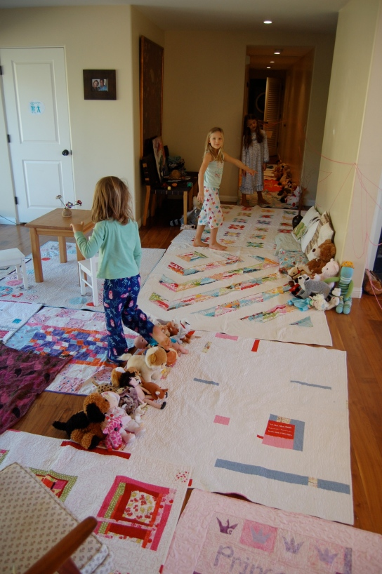 weekend play with quilts