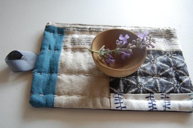 bloomingpoppies wabi sabi style hot pad/trivet/coaster