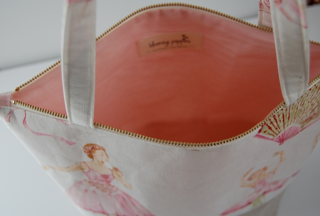 ballet bag- bloomingpoppies