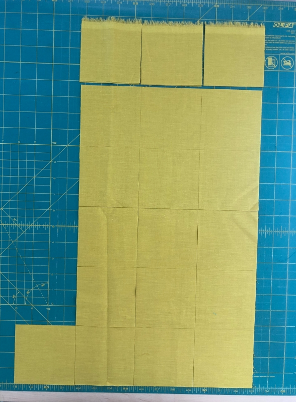 Yardage on the cutting table